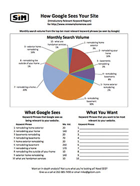 How Google Sees Your Site Report